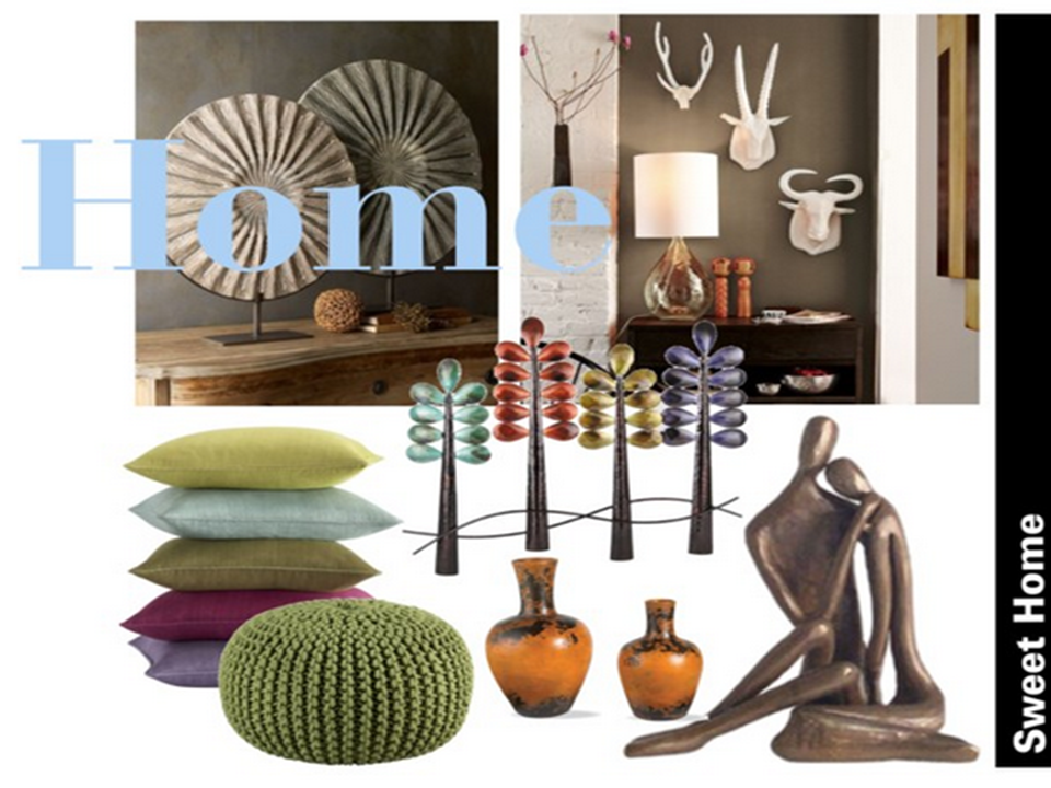 Eclectic Home Accessories add Pizzazz