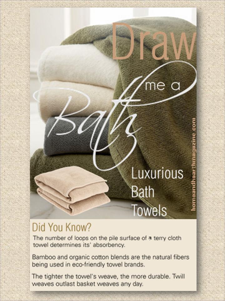 Eco-Friendly Bamboo Bath Towels