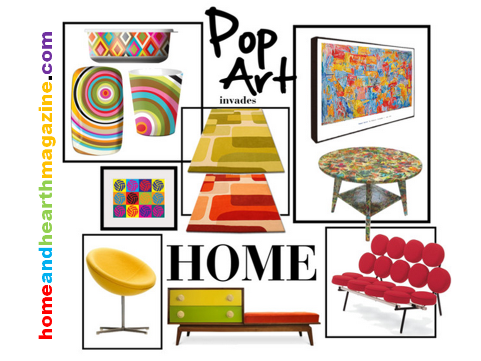 Decorating with Pop Art Home Fashions